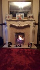Used gas fire and surround