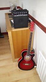 acustic guitar and amp