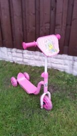 Girls fifi pink 3 wheel scooter can deliver for a small charge