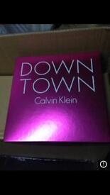 Ck Calvin Klein downtown perfume gift set.