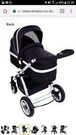 I safe pram and buggy and two isofix bases