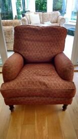 Large armchair for sale, 83cm wide 100 cm deep.