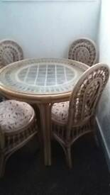 Round table and 4 matching chairs