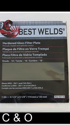 Shade 8 Welding Filter Plate 4.5 X 5.25 - Hardened Glass Lens For Welding Helmet