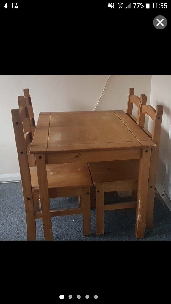 Dining Table 4 Chairs Needs To Go Today