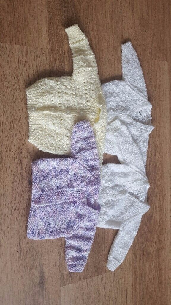 Unisex Hand Knitted Cardigans ( 0-1 mths )