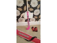 *** KOOKABURRA HOCKEY STICK, WITH CARRY BAG AND NIKE SMALL SHIN GUARDS ***
