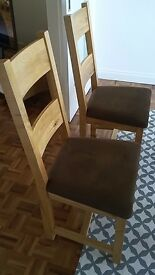 4 furniture village slatted oak chairs - great condition