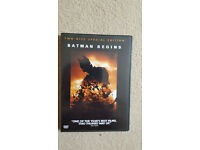 ''Batman Begins'', 2 Disc DVD (Region 2), *Near Mint Condition*, £5 or *Best Offer*