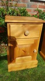 Waxed Pine Bedside Table