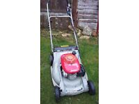 Honda self propelled petrol lawn mower