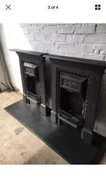 DElIVERY FREE OR MAX £ 25 most uk 2 cast iron fires CHEAP UK DELIVERY