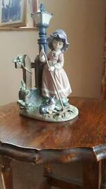 Lladro figurine. Girl sweeping