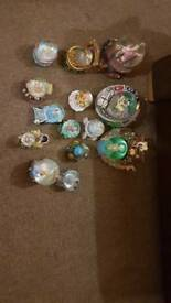 Large collection of Disney snowglobes