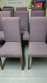 8 x dining chairs very strong GOING CHEAP - can deliver