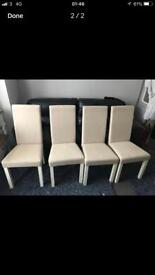 Dining room set of chairs from Harveys only £90 lot