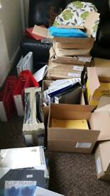 Joblot of stationary Files/Folders/Envelopes/puzzles