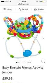 Used but still excellent condition baby bouncy gym