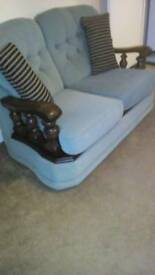 2 x two seater setees and one chair very comfortable