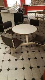 Cafe table chairs