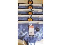 Size 10 - BNWT - M&S - 8 pairs of Medium Blue & Cream Knickers