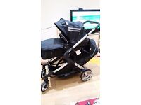 Double pushchair from hauck suitable from birth to 3-4years