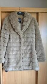 Faux fur ladies coat