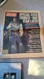 Rare 1977 Newspaper with Elvis Presley coverage
