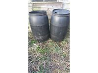 Water butts. £10 the pair