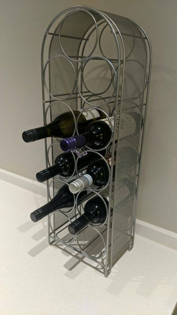 Metal Mesh Wine Rack