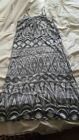 H&M Size S. Blue and white dress