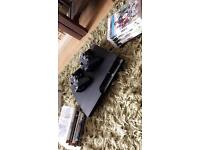 PS3 250GB WITH 10 GAMES, 2 PADS BUT NO WIRES