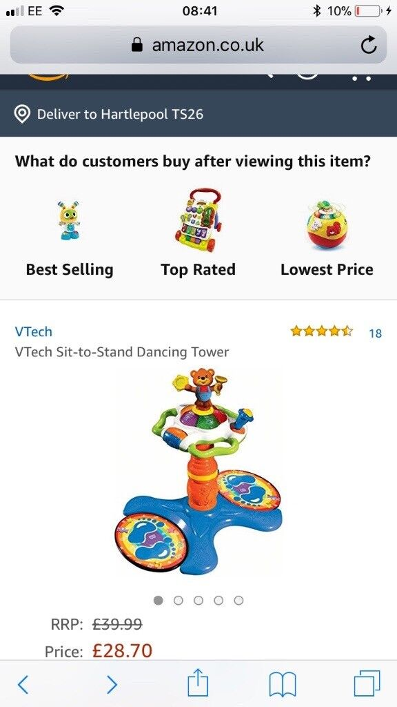 Vetch Sit to Stand Musical Sensory Toy - RRP £40 - Never used