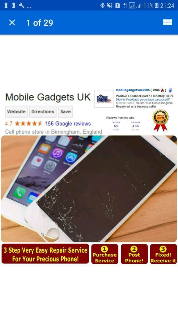 7cd0840a34aed5 Best Apple iPhone Repair Service LCD Screen Battery Charging Issue Chip  Problem All Done Same Day | in Hockley, West Midlands | Gumtree