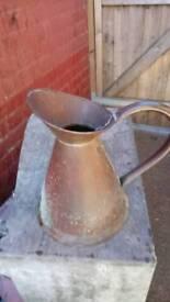 Old copper jug ex connection