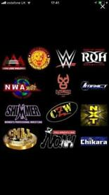 WWE ROH CZW TNA GFW NJPW and more.