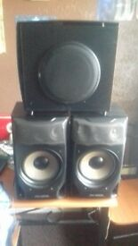 POWERFUL SURROUND SPEAKERS + SUBWOOFER