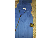 royal blue stone island hoodie small