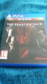 """Playatation 4 game """"The phantom pain"""""""