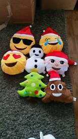 Xmas emoji cushions 3 for 10.00