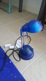 fully working desk lamp with 6 spare bulbs