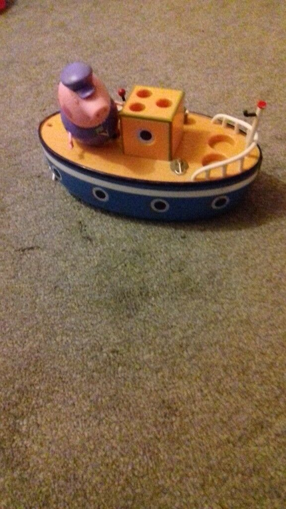 Grandpa pig and boat toy   in Poole, Dorset   Gumtree