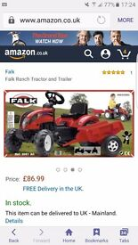 Brand new in box pedal tractor and trailer