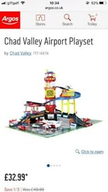 BRAND NEW, STILL BOXED Chad valley airport Playset