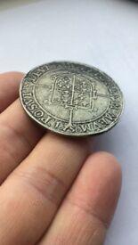 Queen Elizabeth I Hammerd coin