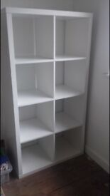 2 x white 8 square storage units, also have singles available.