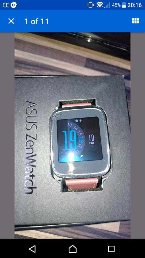 Asus zenwatch Smart Watch rose gold and silver
