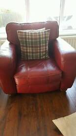 leather suite, 3,2,1 plus footstool.