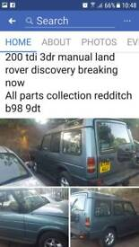 200 tdi 3dr landrover discovery breaking now