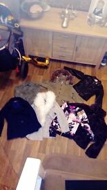 Job lot of girls coats river Island zara and tammy age 7 to 10 years